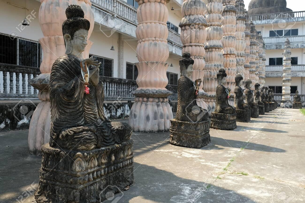 Nong Khai Isan Thailand - Buddha sculptures in buddhist temple Wat Khaek - 139898344