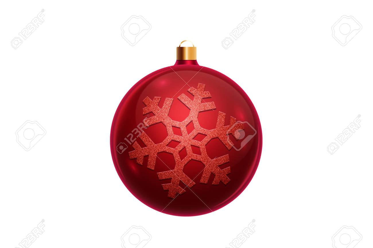 Red Christmas Ball Isolated On White Background Christmas Decorations Stock Photo Picture And Royalty Free Image Image 113387213