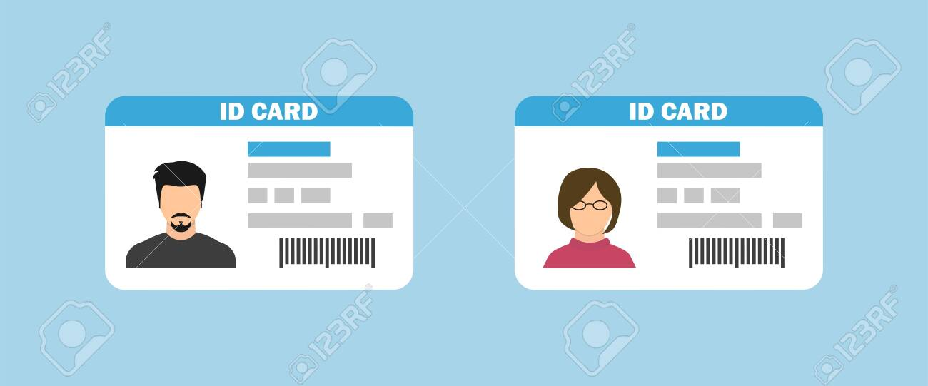 Id card in flat style. Isolated icon. Vector illustration - 147374885