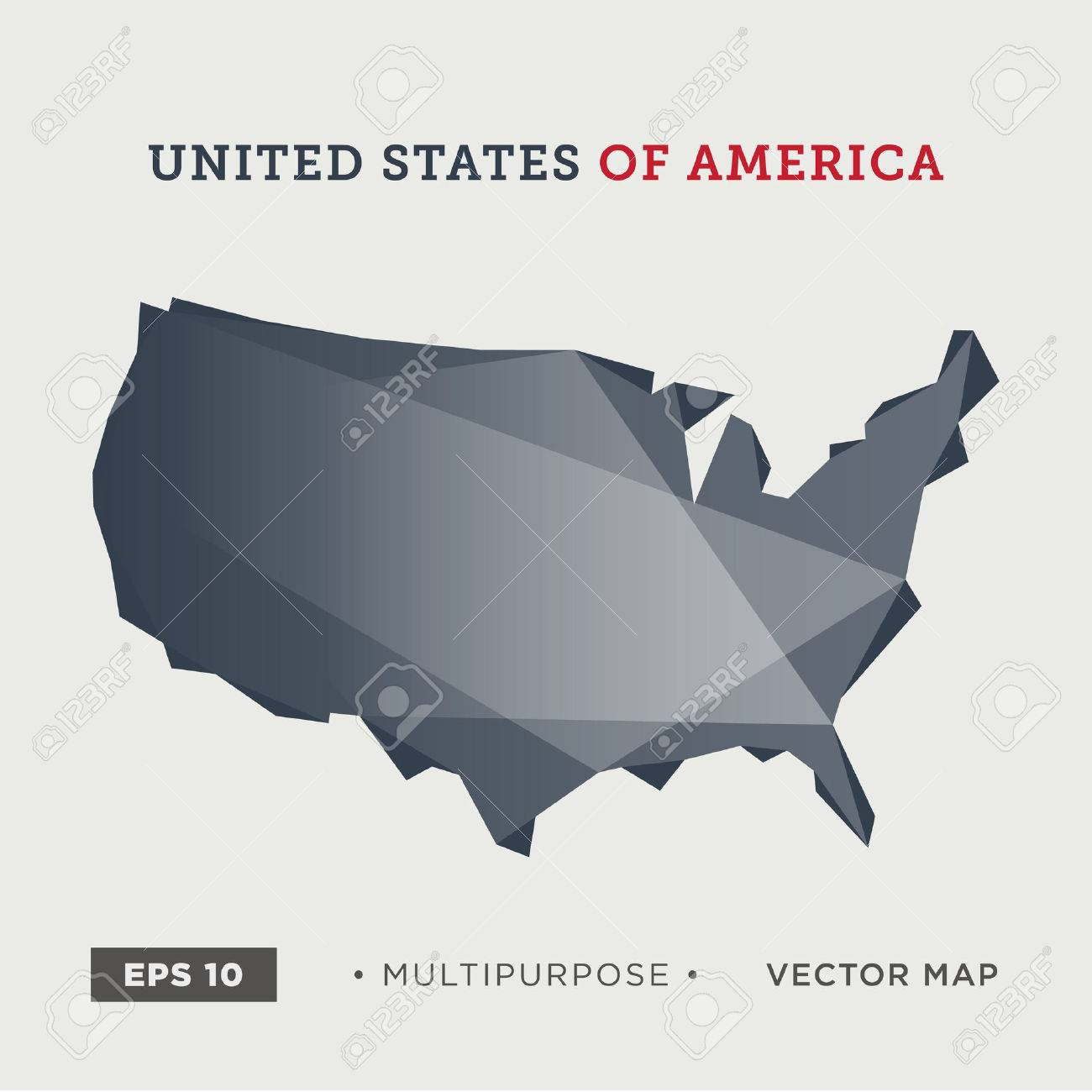 01 United States Of America, USA Map, Modern Royalty Free Cliparts ...