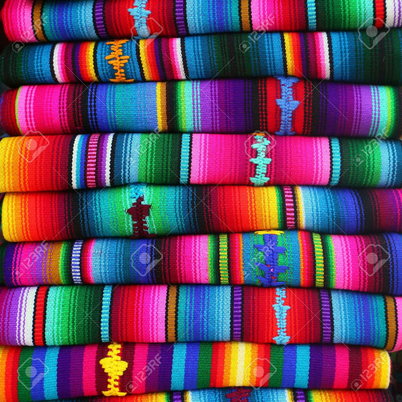colorful blankets from guatemala stock photo picture and royalty  - colorful blankets from guatemala stock photo