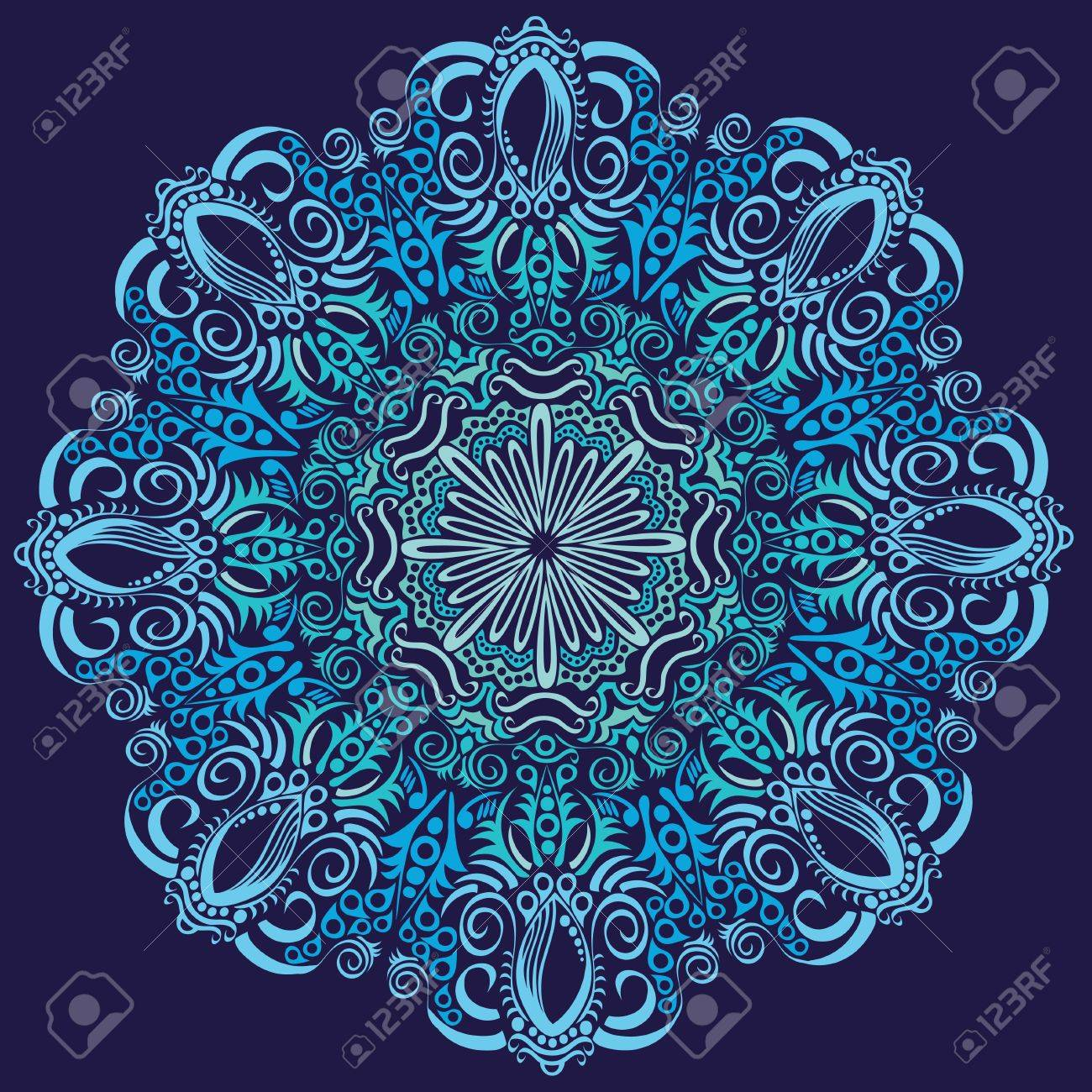 ornamental round lace pattern, circle background with many details, looks like crocheting handmade lace Stock Vector - 14325515