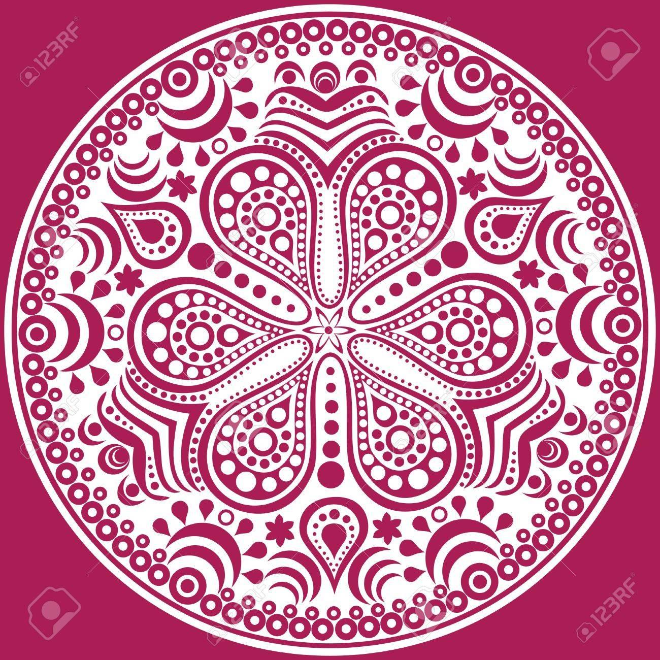patrn ornamental del cordn redondo fondo crculo con muchos detalles parece ganchillo encaje hecho