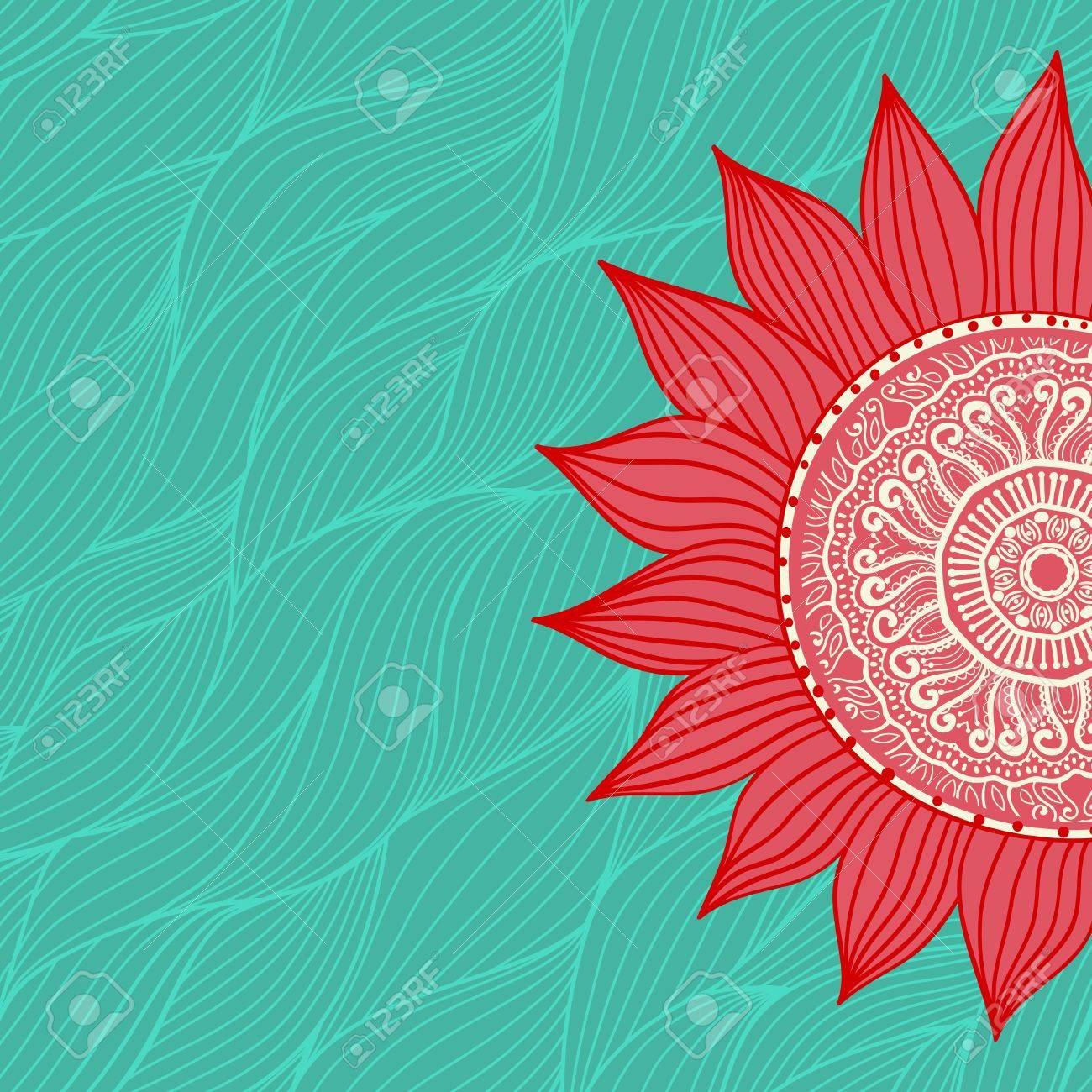 Ornamentale Runden Spitzen Muster Kreis Hintergrund Mit Vielen