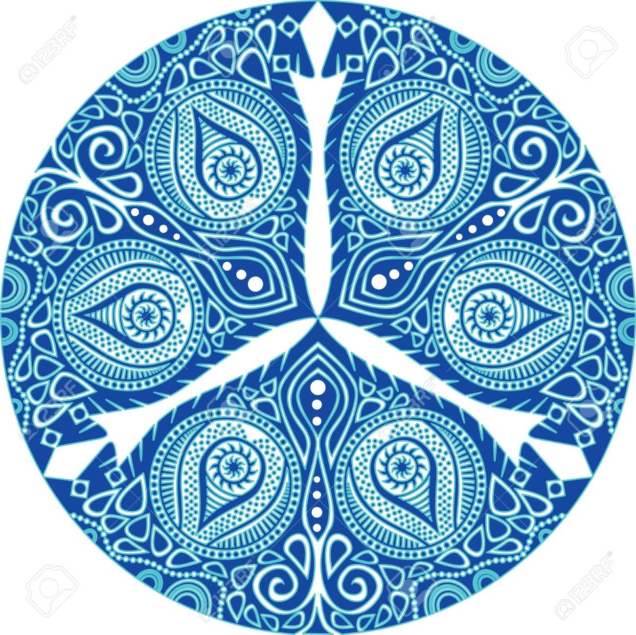 Ornamentale Runde Spitze Muster, Kreis Hintergrund Mit Vielen ...