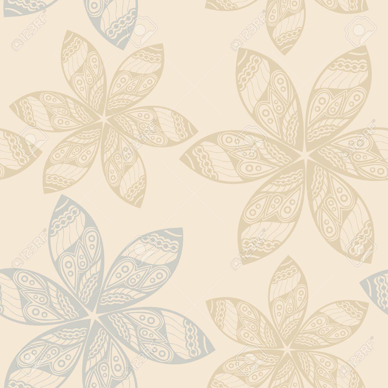 Seamless Texture With Flowers And Birds Endless Floral Pattern Can Be Used For Wallpaper