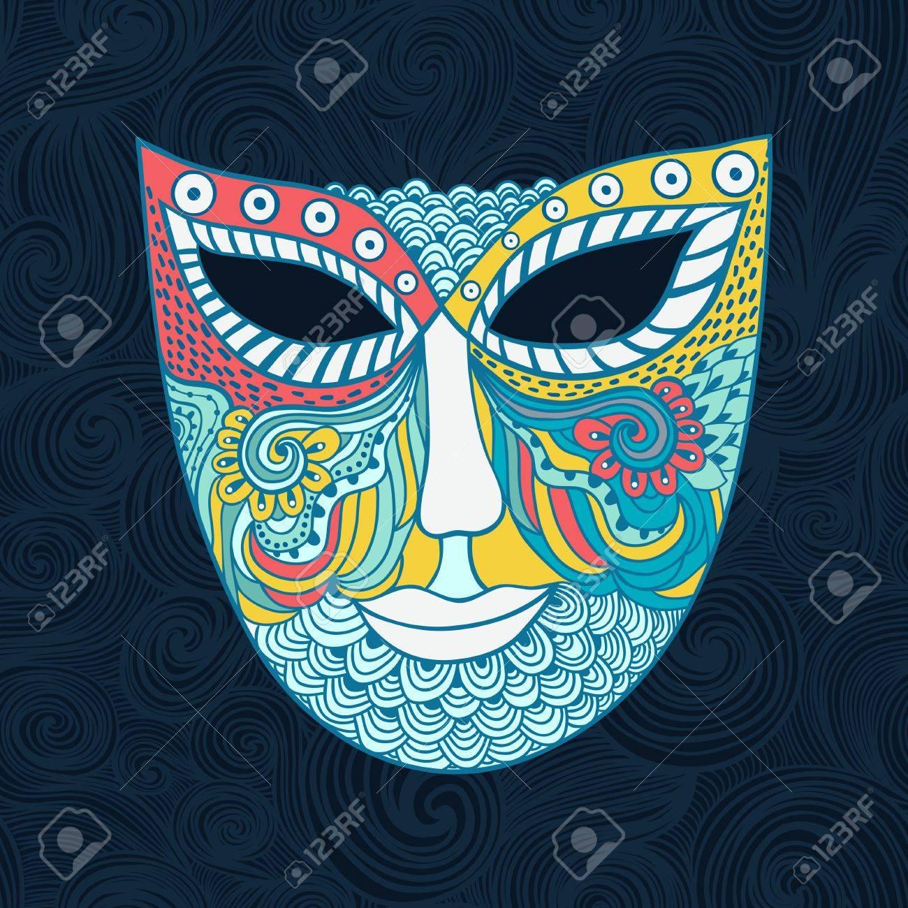 carnival mask, mask stylization Stock Vector - 21404114