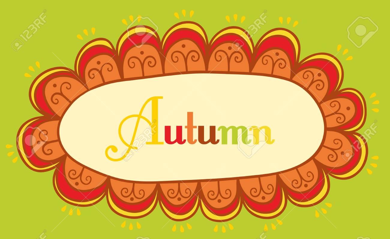 Abstract Rahmen Für Ihren Text. Herbstliche Thema Header. Lizenzfrei ...