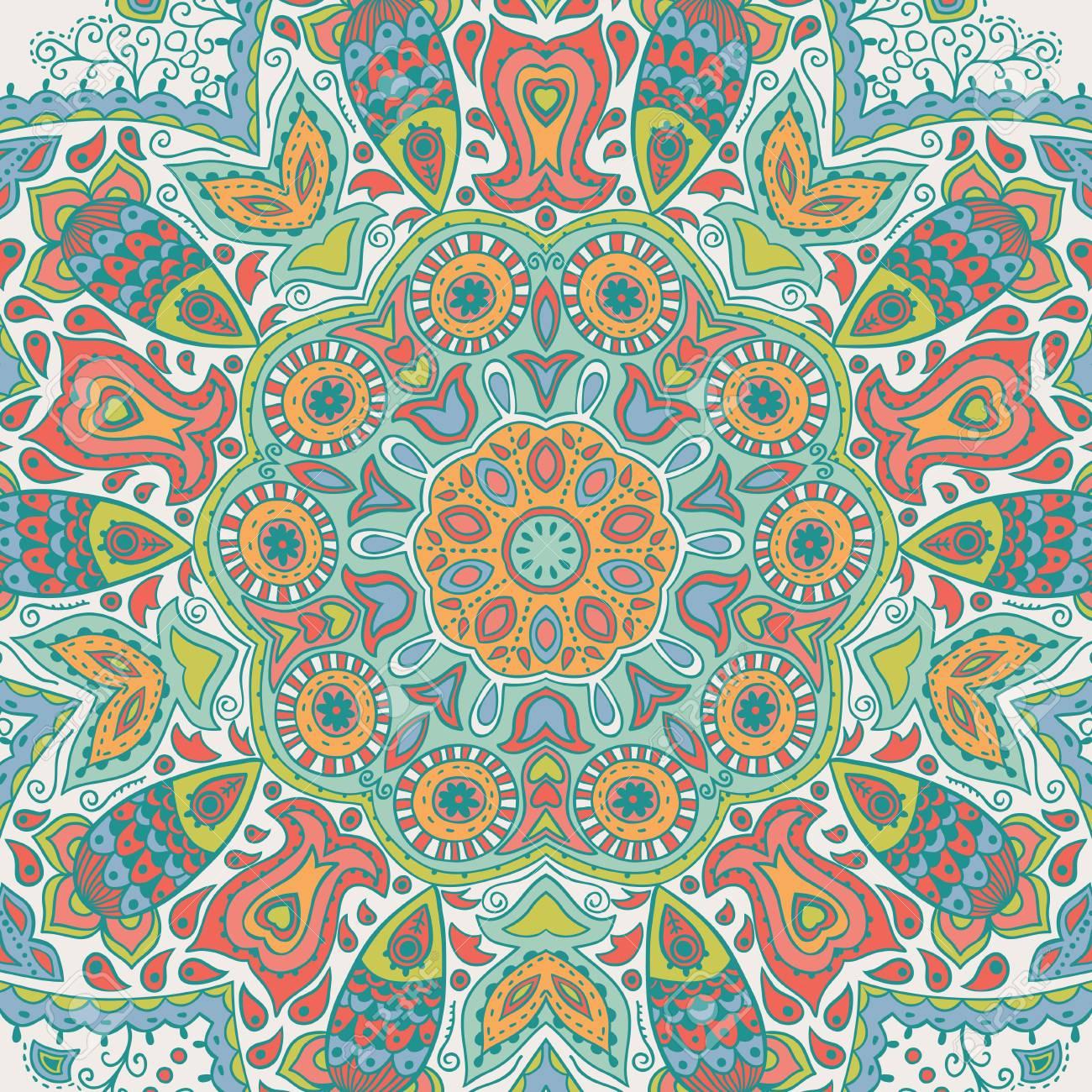 Ornamentale Runde Spitze Muster Kreis Hintergrund Mit Vielen