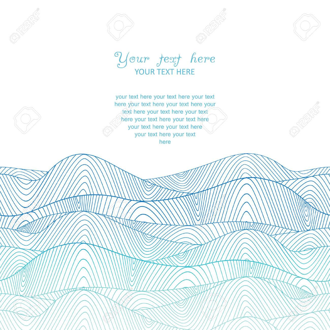 colorful abstract hand-drawn pattern, waves background Stock Vector - 25298384