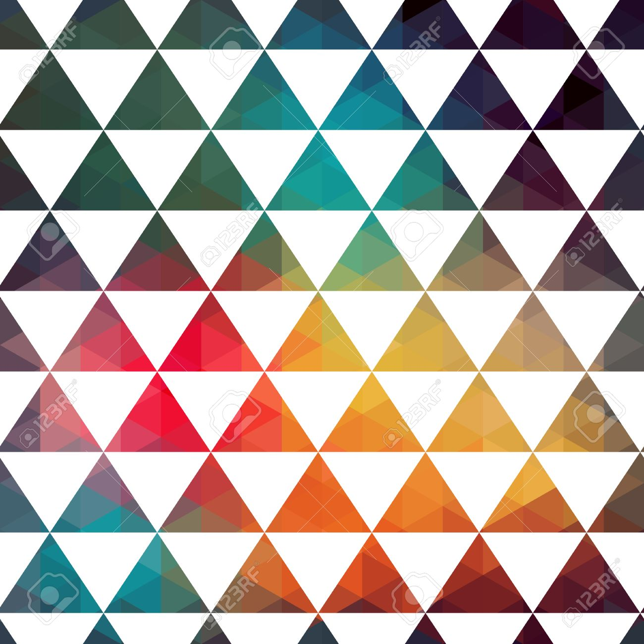vector triangles pattern modern hipster pattern colorful texture