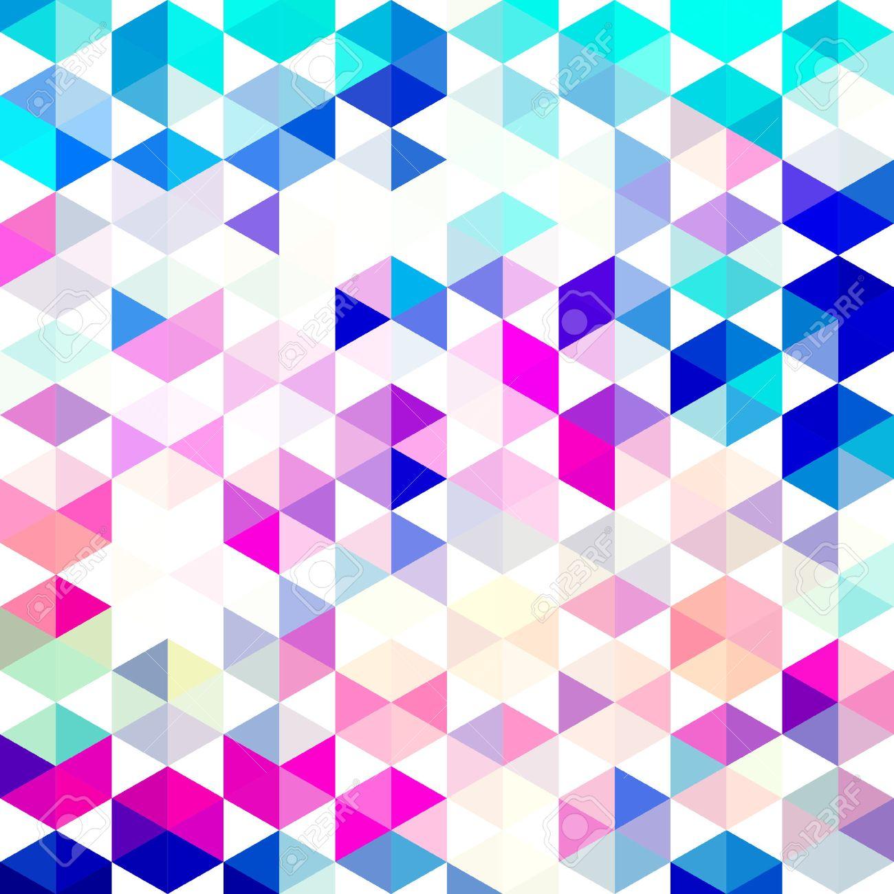 Vector Retro Patroon Van Geometrische Vormen Kleurrijk Mozaïek