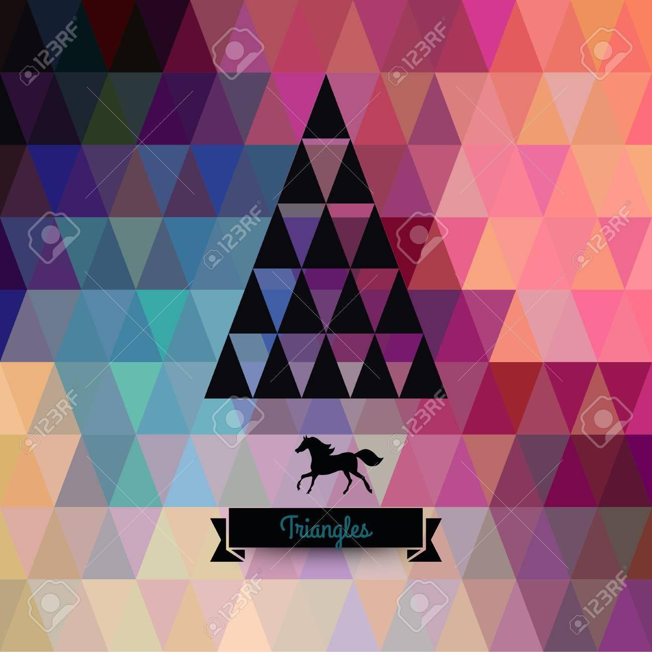 bea9d78e1e988 Tarjeta De Felicitación De La Navidad Del Vector. Triángulos. Árbol De  Navidad. Inconformista   Sofisticada. Silueta Abstracta Del árbol