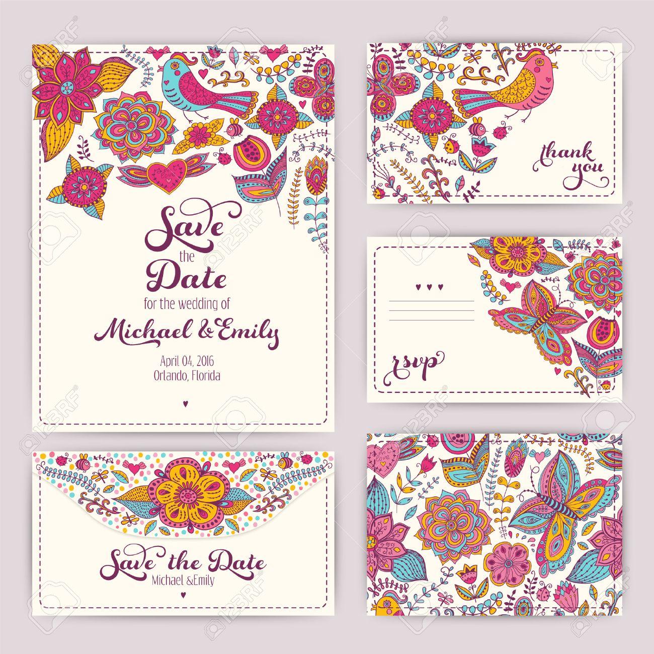 Printable Wedding Invitation Template: Invitation, Envelope ...