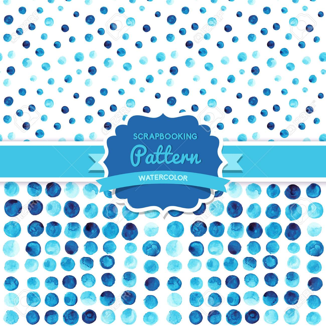 Vector watercolor circles seamless pattern (tiled). Retro paints ornament set. Round shapes pattern. Color cell. round shapes. Geometric painted ornament. Grunge colorful rounds shapes. Stock Vector - 26310879