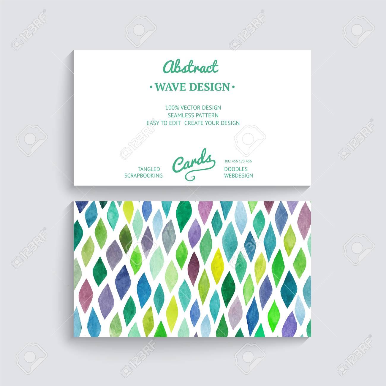 Carte De Visite Vecteur Laquarelle Texture Invitations Ou