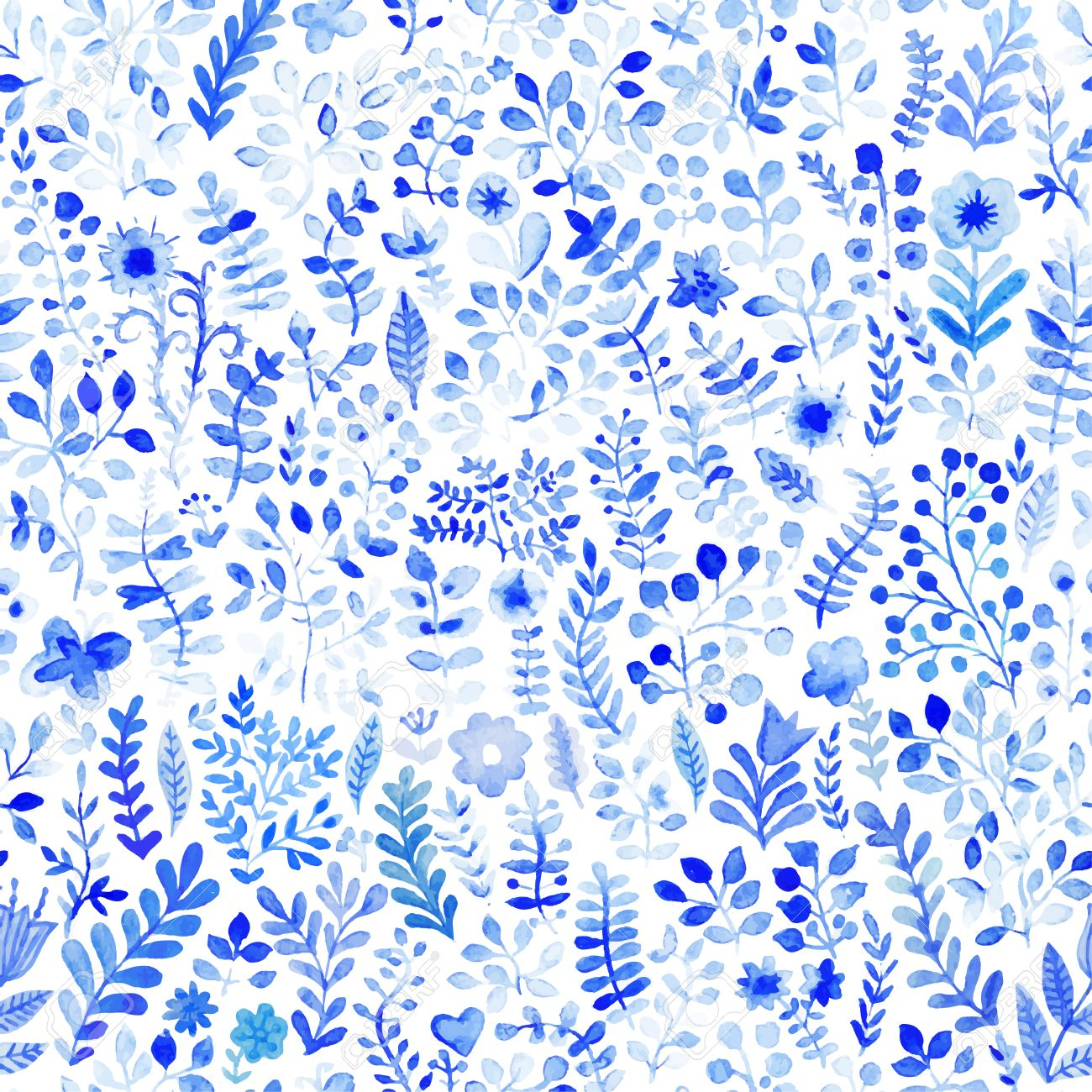 Floral Watercolor Pattern Texture With Flowers Floral Pattern