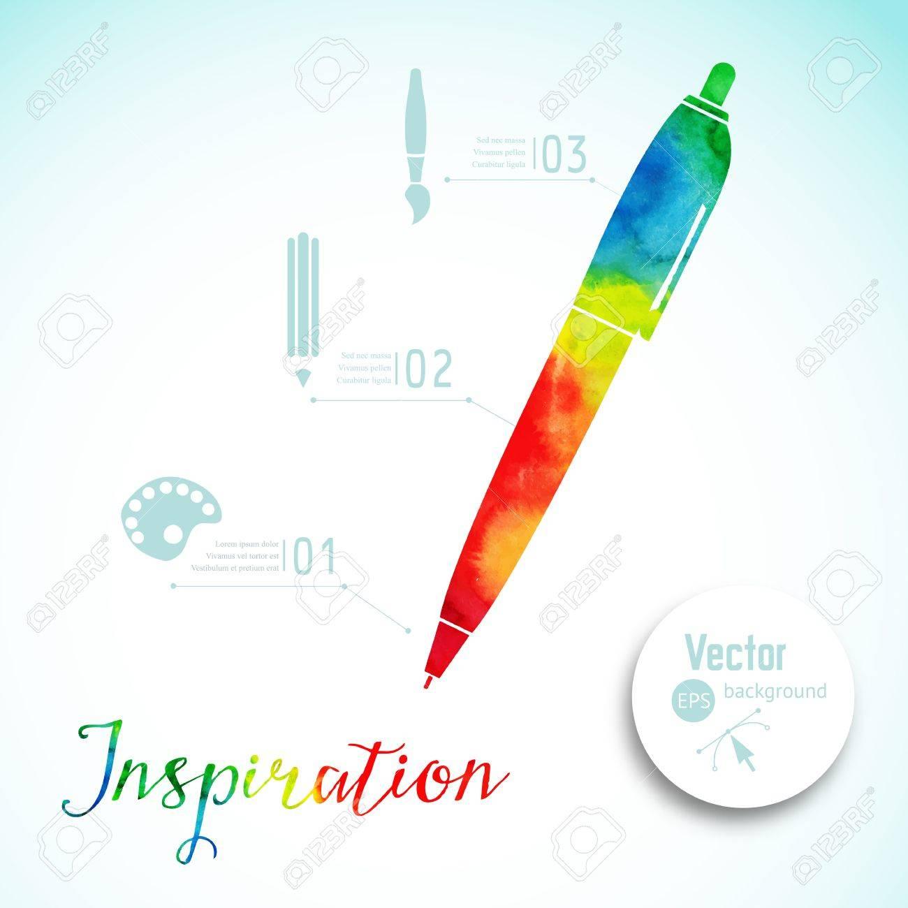 Artist at work ink pen symbol of visual art vector illustration ink pen symbol of visual art vector illustration watercolor silhouette biocorpaavc Choice Image
