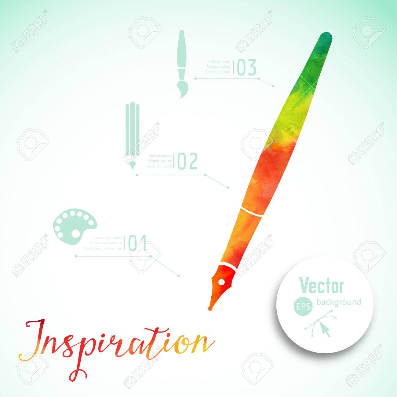 Artist at work ink pen symbol of visual art vector illustration ink pen symbol of visual art vector illustration creativit concept biocorpaavc Choice Image