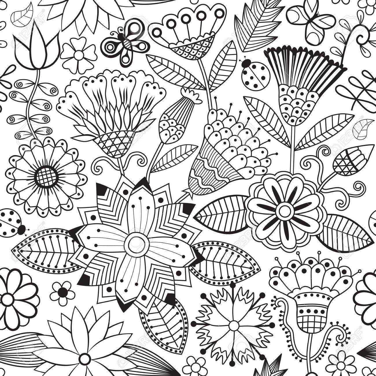 online store 041a9 2064b 50036093-vector-flower-pattern-black-and-white -seamless-botanic-texture-detailed-flowers-illustrations-all-el.jpg