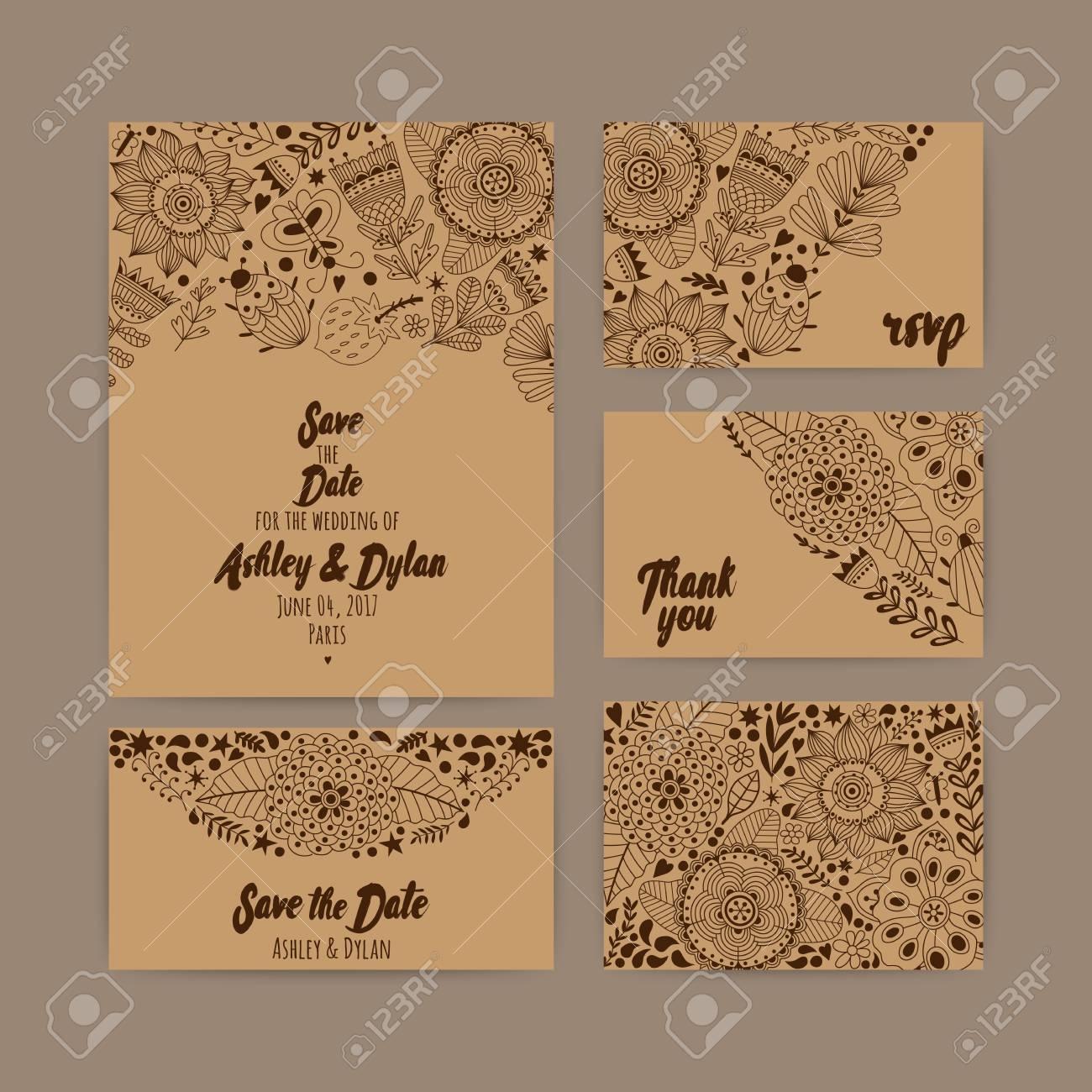 Modèle Dinvitation De Mariage Invitation Enveloppe Carte De Remerciement Enregistrez Les Cartes De Date Ensemble De Mariage Carte Rsvp
