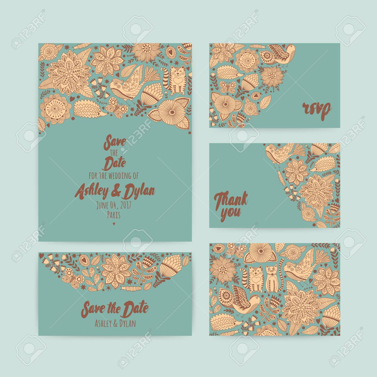 wedding invitation template save the date invitation and envelope