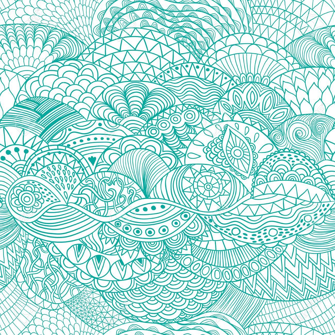 藻海モチーフのイラスト素材ベクタ Image 87779164