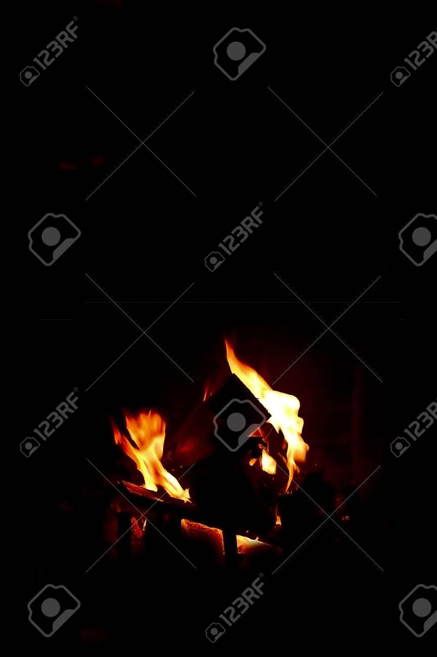 Sfondo fuoco camino