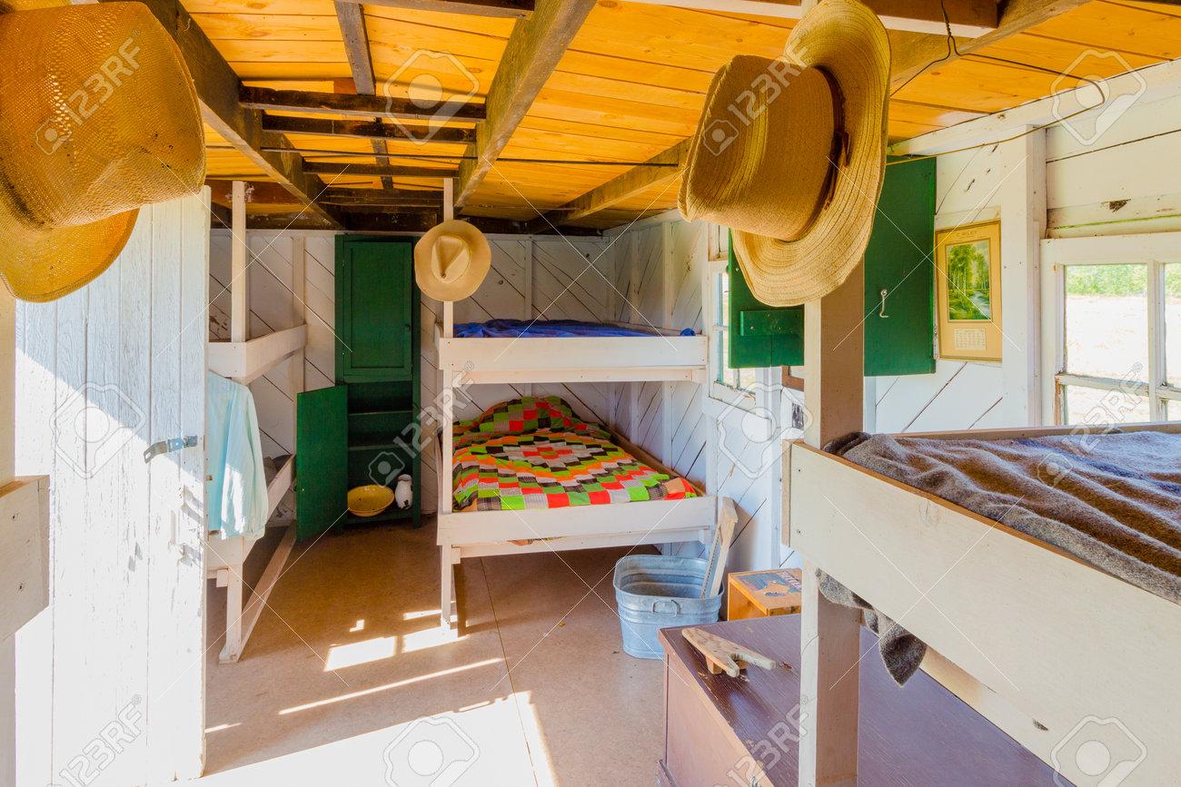 Longview August 2015 Dieses Alte Schlafzimmer Im Hölzernen Lastwagen ...