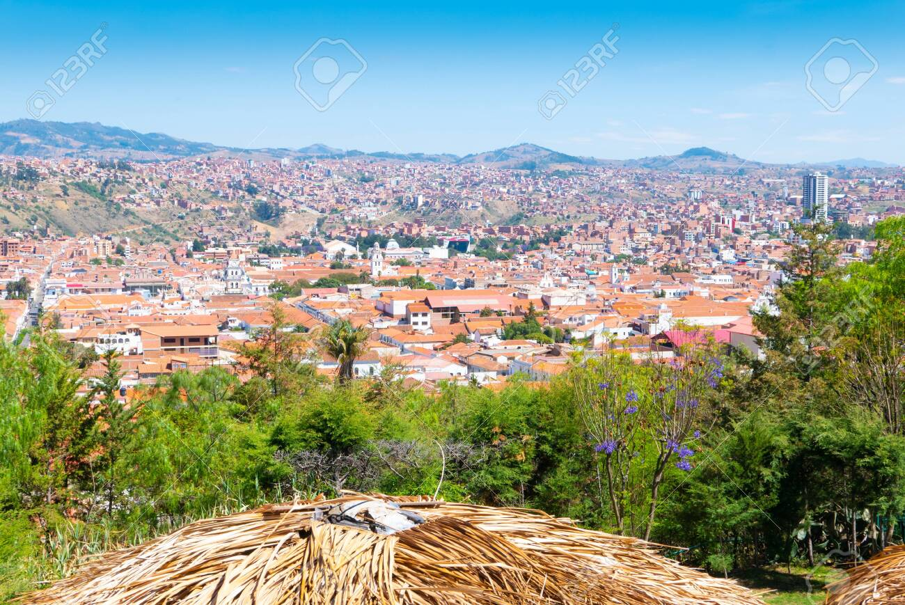 Sucre Bolivia October 20 Panoramic View Of Sucre From From Recoleta Stock Photo Picture And Royalty Free Image Image 136572835