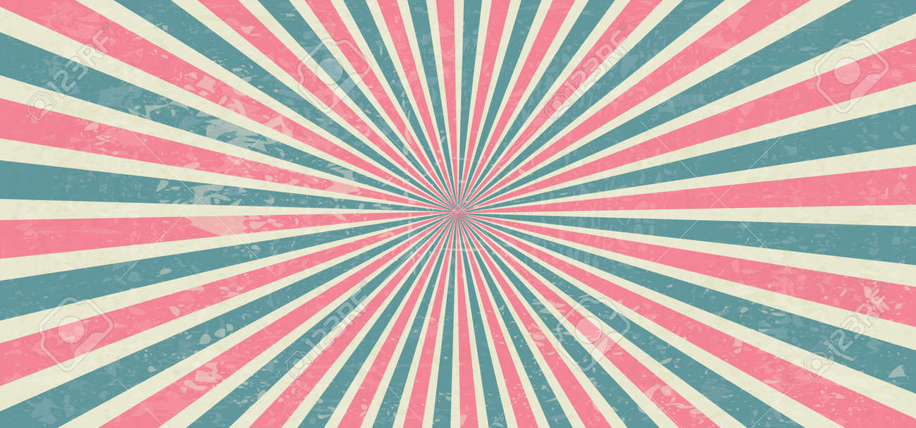 Starburst style shapes Stripes in retro pop art 80's 70's years background Funny vector comic clipart line Geometric seamless pattern elements Sunshine cartoon line radial lines rays Sun burst - 155191109