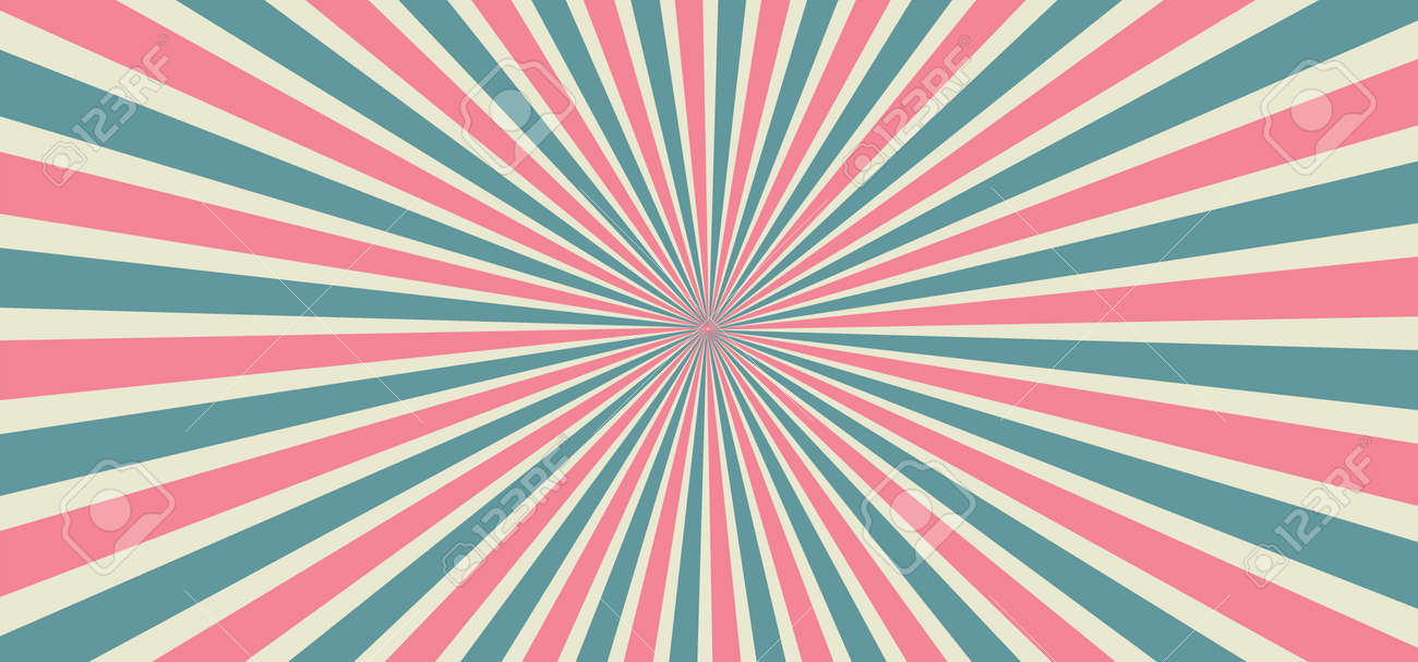 Starburst style shapes Stripes in retro pop art 80's 70's years background Funny vector comic clipart line Geometric seamless pattern elements Sunshine cartoon line radial lines rays Sun burst - 155191128