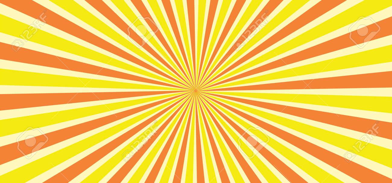 Starburst style shapes Stripes retro pop art 80's 70's years background Funny vector comic clipart line Geometric seamless pattern elements Sunshine cartoon line radial lines rays burst Sun Sunburst - 155191937