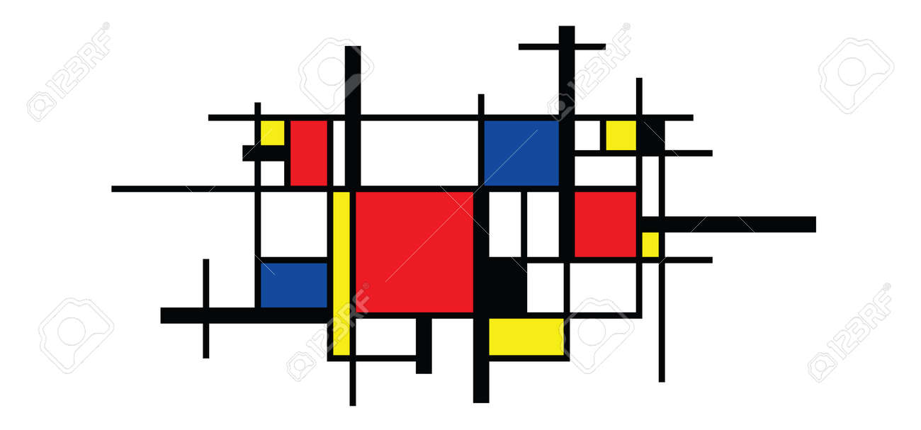 Checkered style emulation. The Netherlands art history and Holland painter. Dutch mosaic or checker line pattern. Retro pop art pattern - 156621164