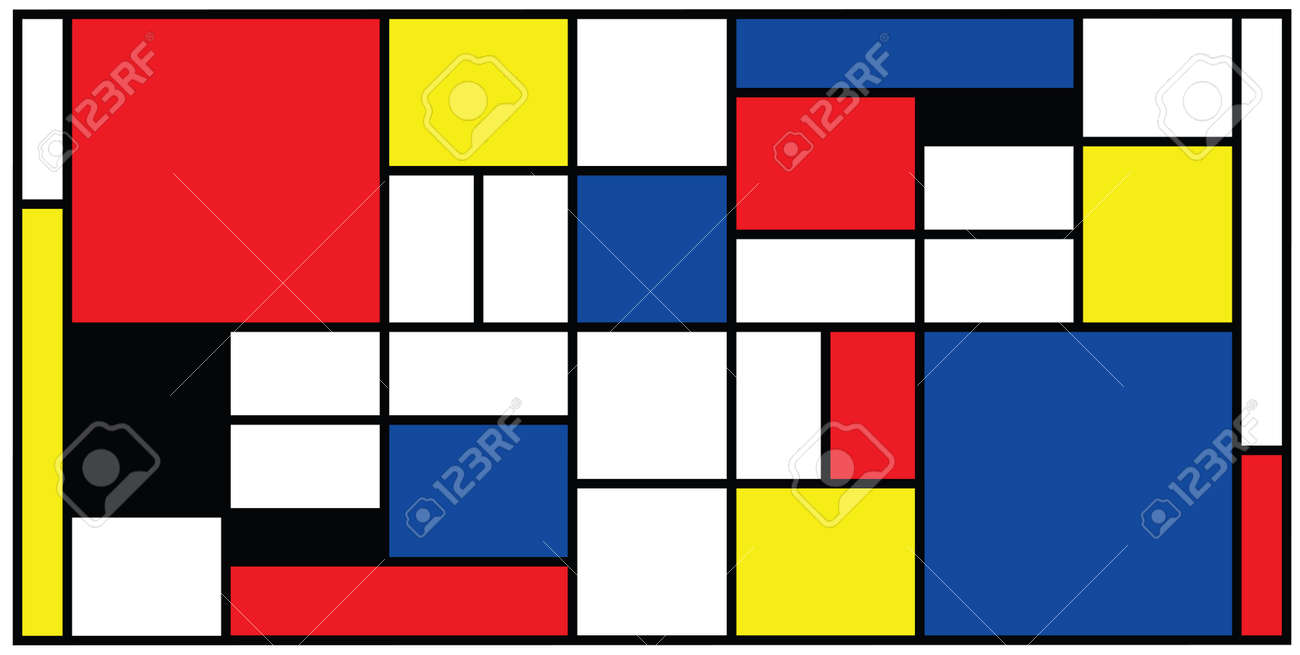 Checkered style emulation. The Netherlands art history and Holland painter. Dutch mosaic or checker line pattern. Retro pop art pattern - 156621186