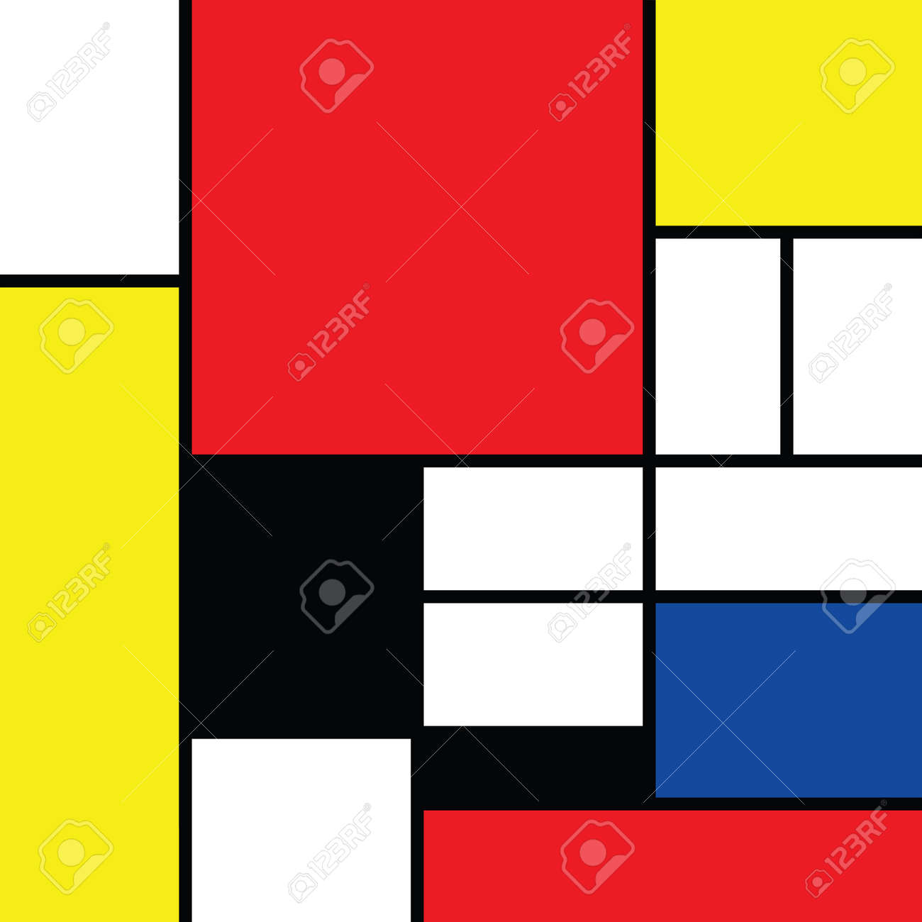 Checkered style emulation. The Netherlands art history and Holland painter. Dutch mosaic or checker line pattern. Retro pop art pattern - 156621199