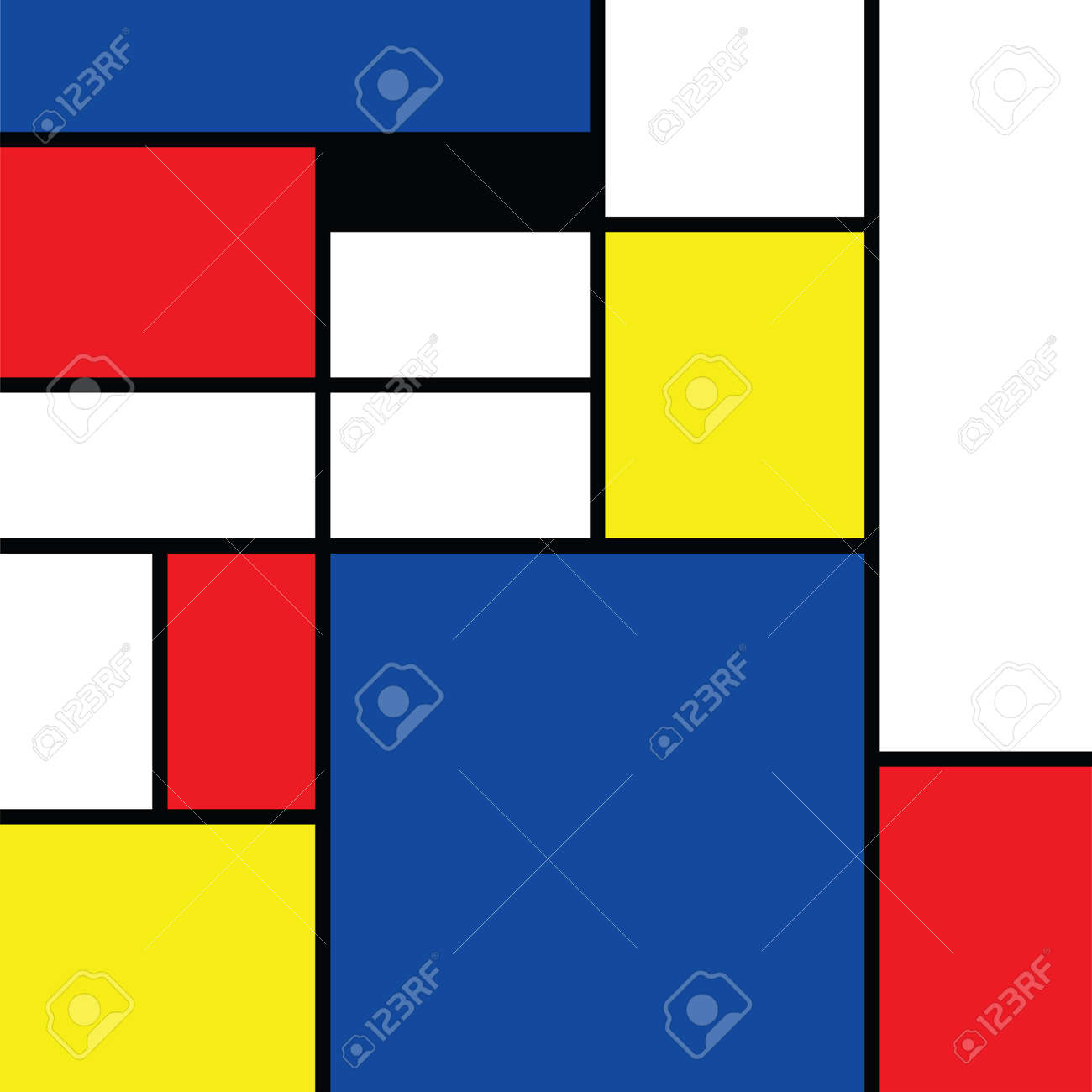 Checkered style emulation. The Netherlands art history and Holland painter. Dutch mosaic or checker line pattern. Retro pop art pattern - 156621202