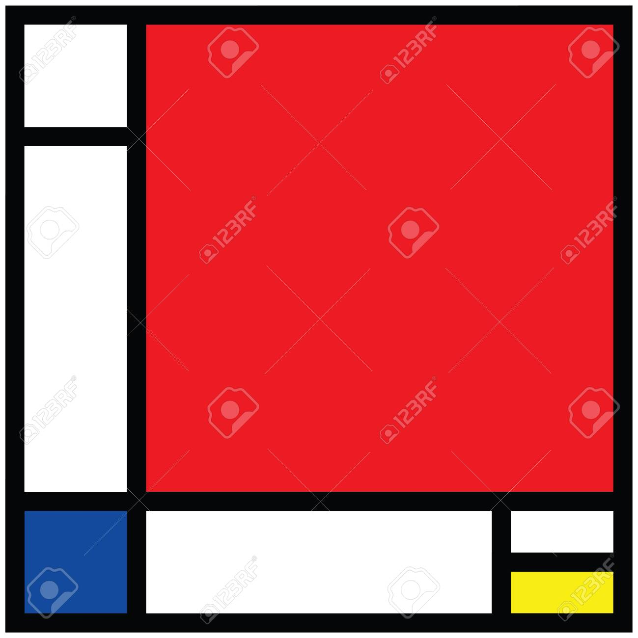 Checkered style emulation. The Netherlands art history and Holland painter. Dutch mosaic or checker line pattern. Retro pop art pattern - 156621205