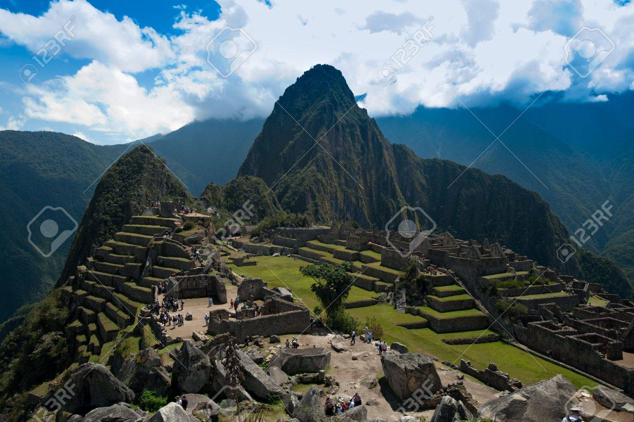 Mountain living near cusco peru royalty free stock photo - View Of The Lost Incan City Of Machu Picchu Near Cusco Peru Stock Photo