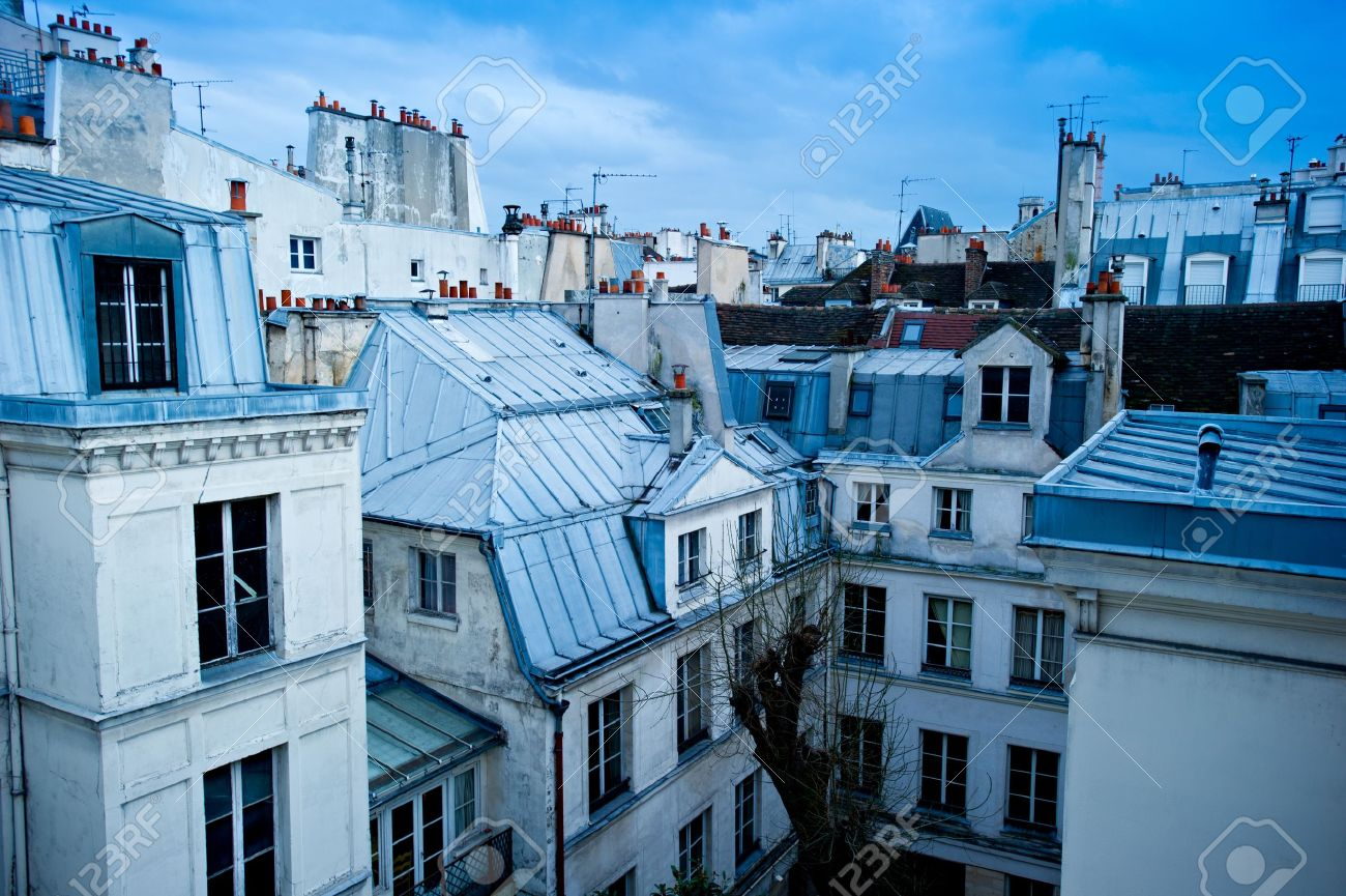 View of a Paris neighborhood skyline featuring mostly rooftops from the top floor of an & View Of A Paris Neighborhood Skyline Featuring Mostly Rooftops ... memphite.com