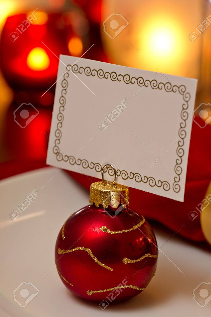 Christmas Place Settings elegant christmas place setting place with ornament card holder