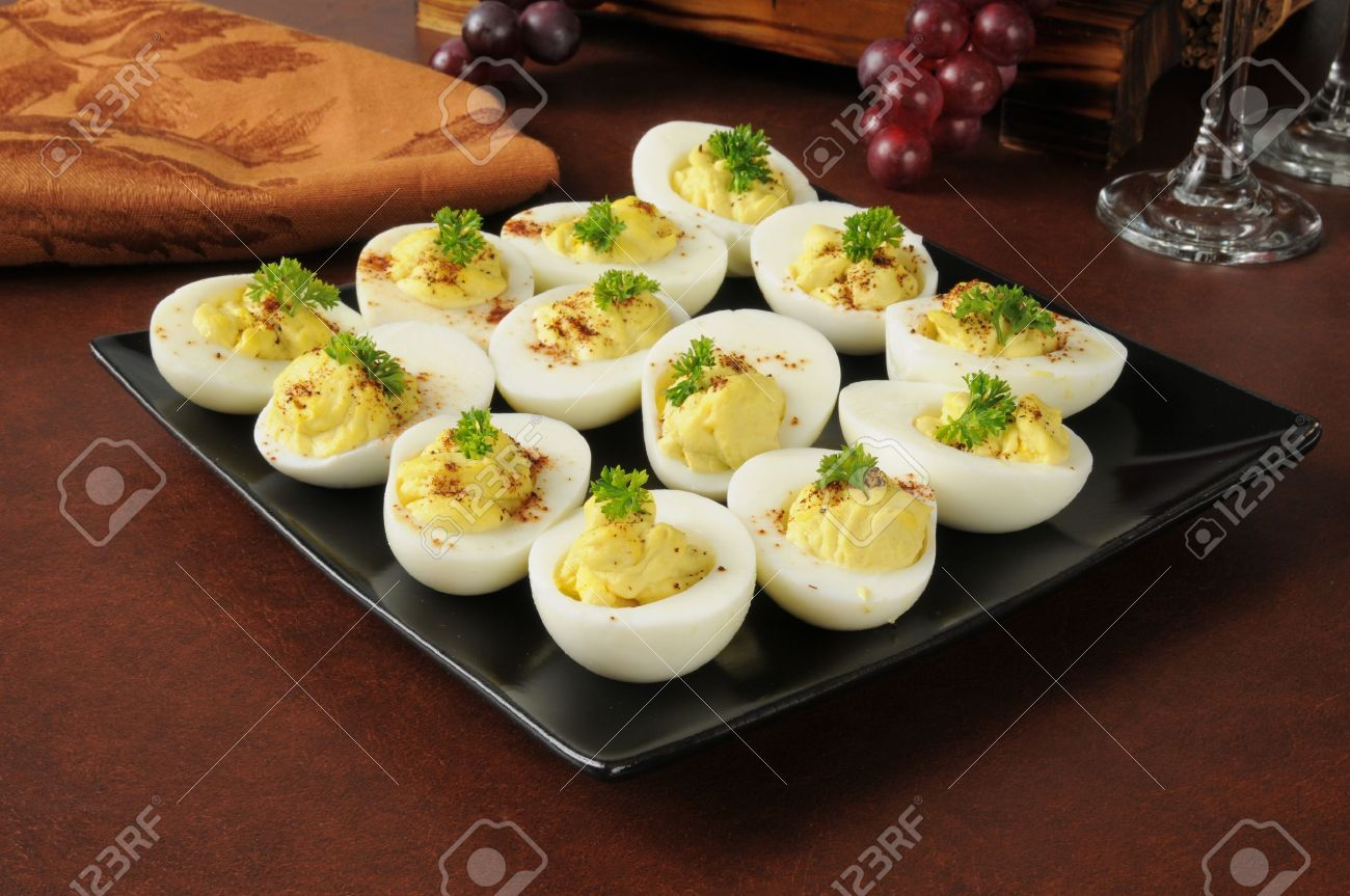 Egg Salad Stuffed In The Eggs And Sprinkled Wtih Paprika Stock Photo 18964690