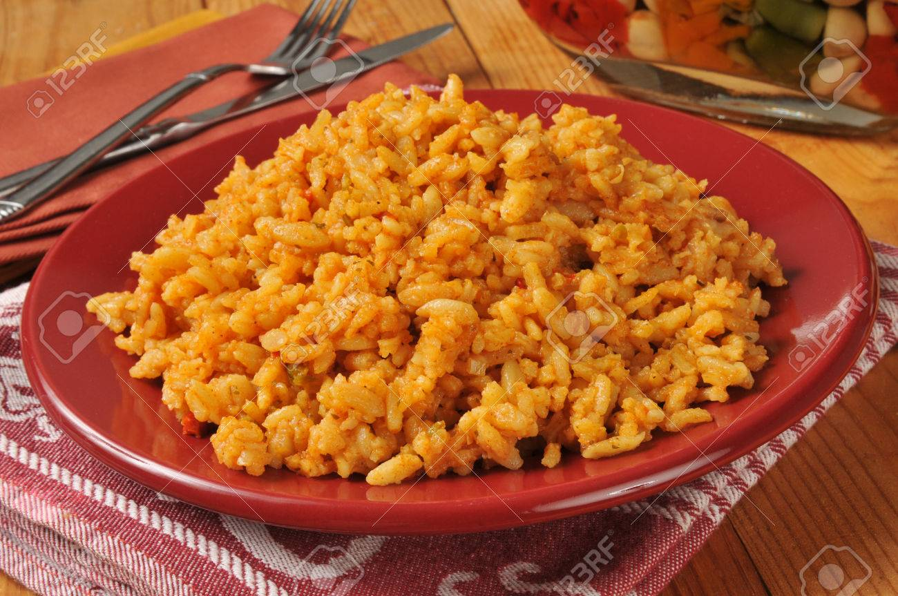 A plate of spicy mexican rice - 22801944