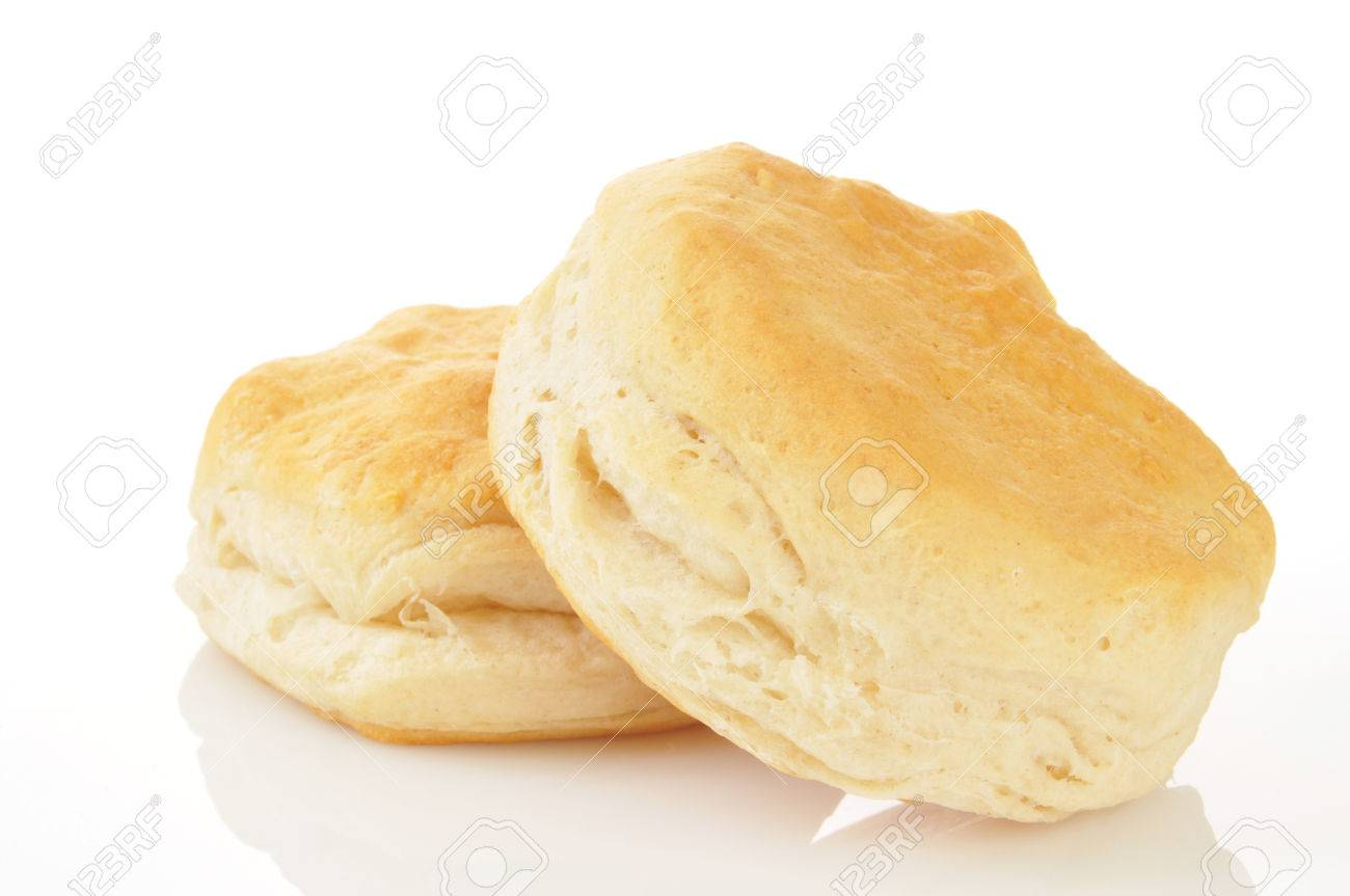 Buttermilk biscuits on a white background - 23769169