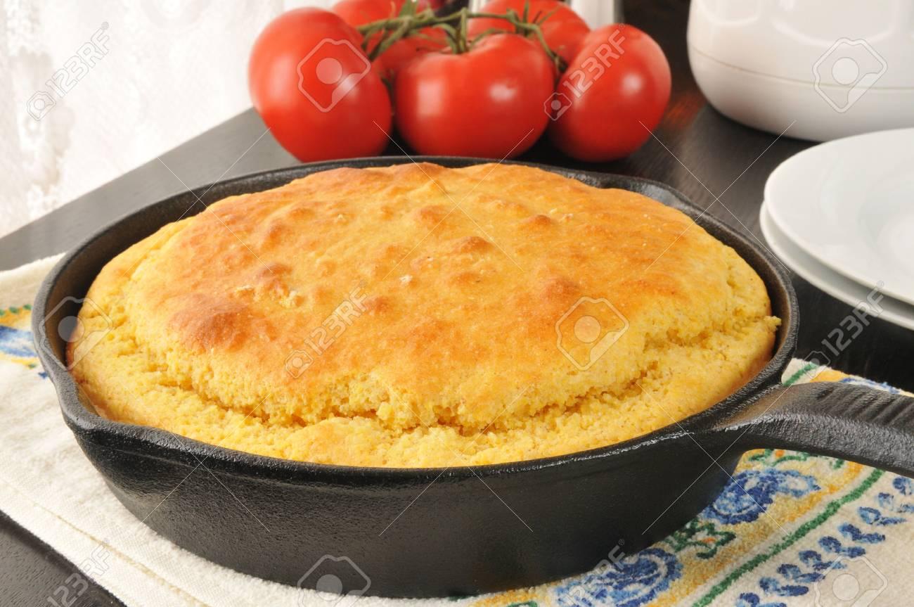 Fresh baked cornbread cooling near the window - 24883742