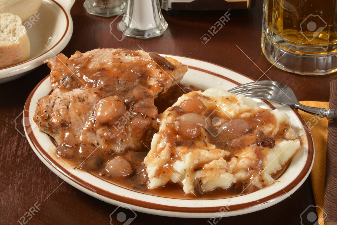 Boneless Chicken Breasts In A Burgundy Wine Sauce With Mushrooms Stock Photo Picture And Royalty Free Image Image 37434503