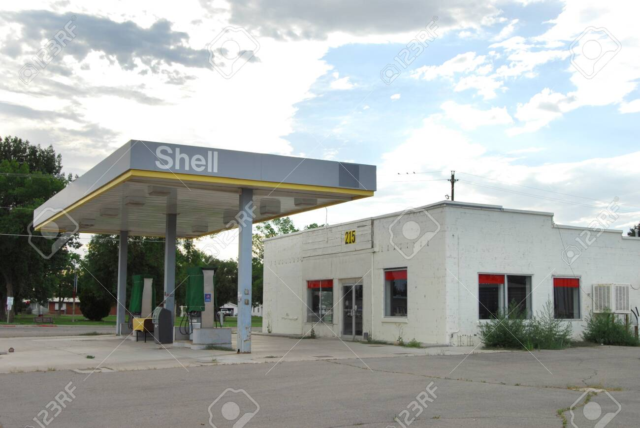 Green River Ut Usa July 10 2012 An Abandoned Shell Oil Gas Stock Photo Picture And Royalty Free Image Image 136576110