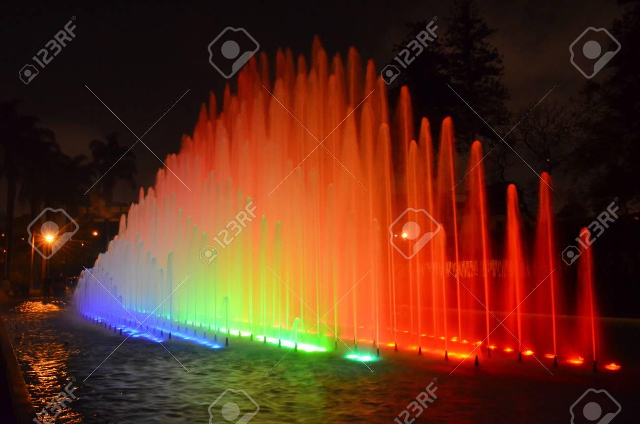 Circuito Magico Del Agua : Illuminated water fountains in the circuito magico de agua lima