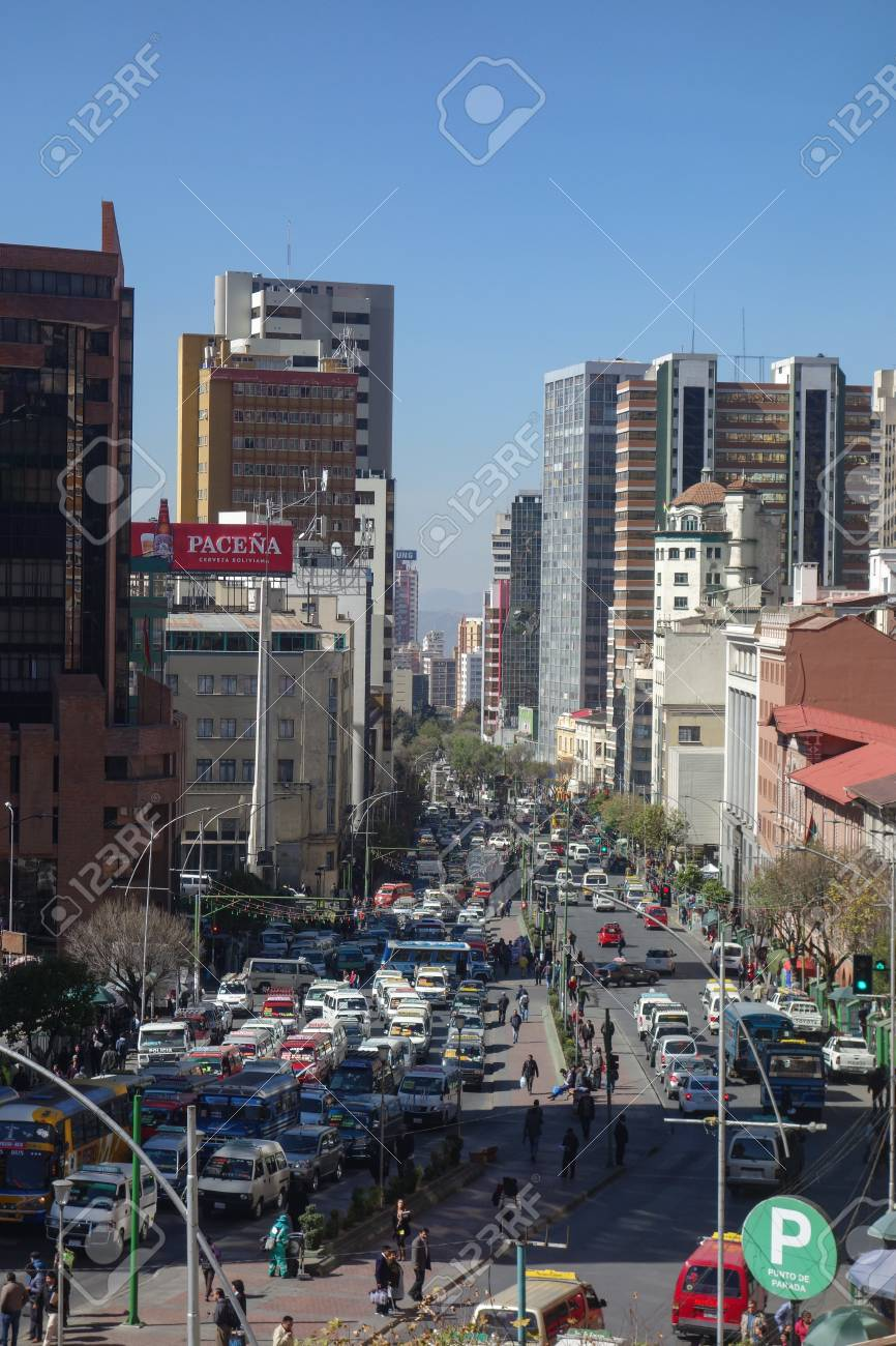 View Along Mariscal Santa Cruz Avenue The Main Thoroughfare Stock Photo Picture And Royalty Free Image Image 117430558