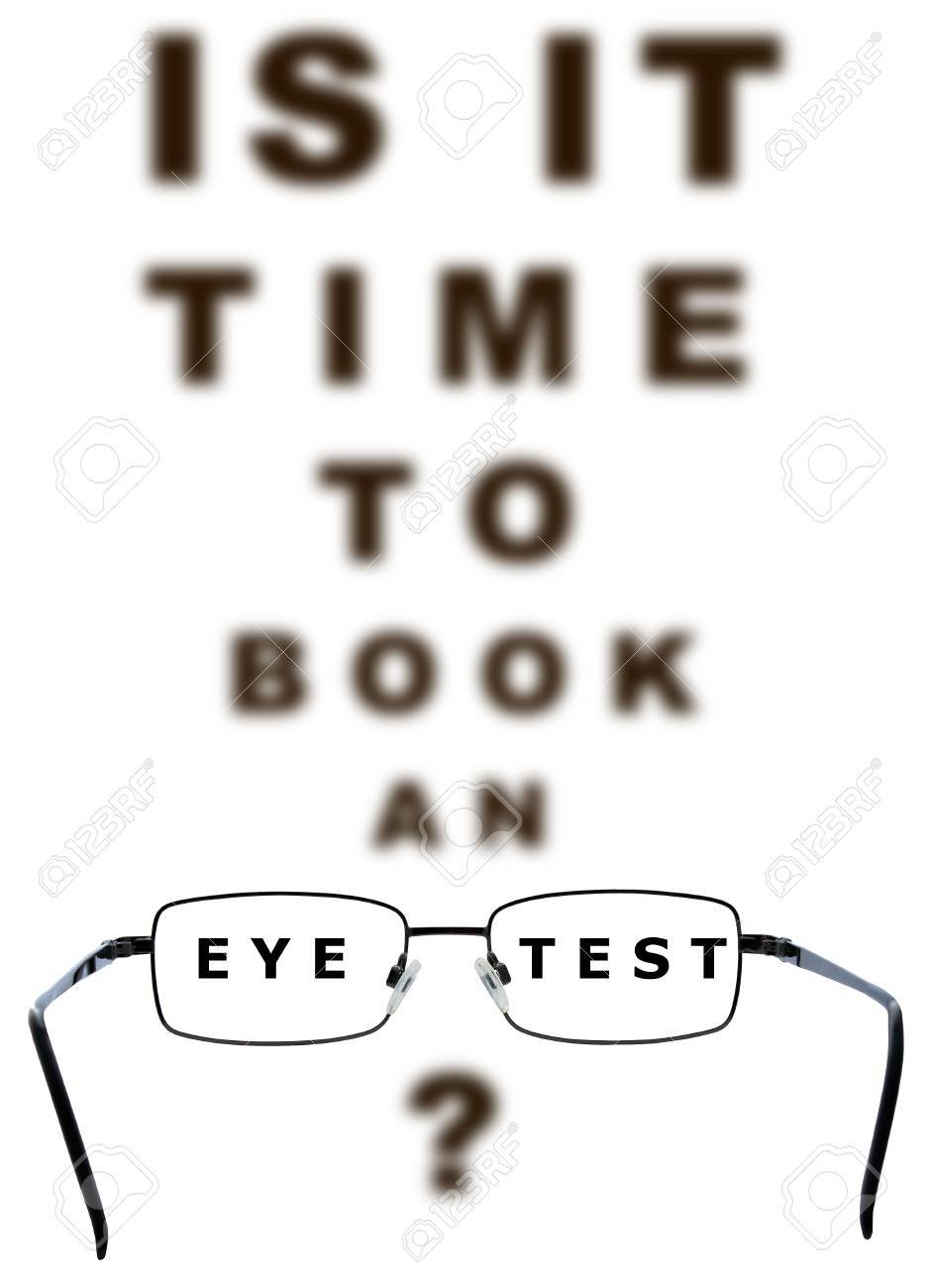 Eye Examination Chart With All The Letters Blurred Apart From